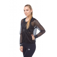 ARENA GYM HOODED F/Z JACKET MESH W (001207)